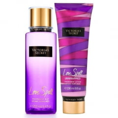 Victoria's Secret Combo Love Spell Body Splash 250ml + Creme Hidratante 236ml
