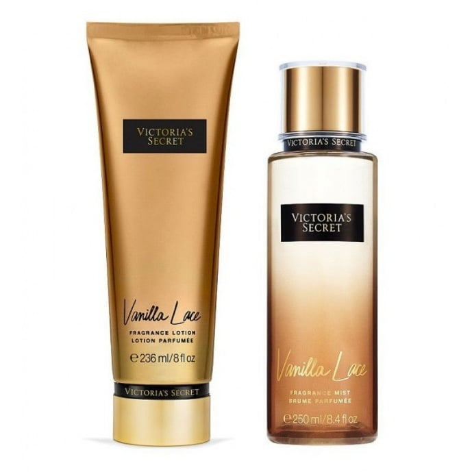 Victoria's Secret Combo Vanilla Lace Body Splash 250ml + Creme Hidratante 236ml